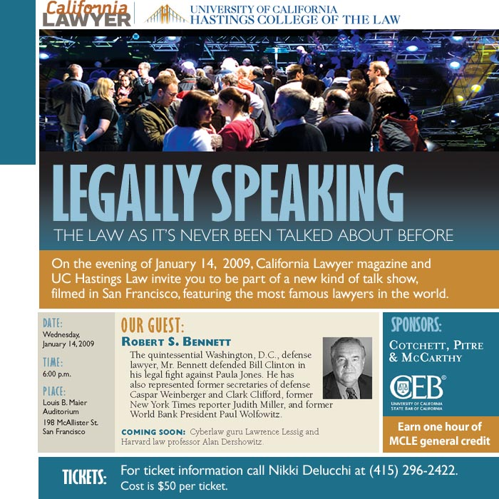 Legally Speaking - new program from California Lawyer and UC